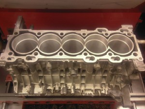 Cylinder Block 1 - Machined to accept Cylinder Liners