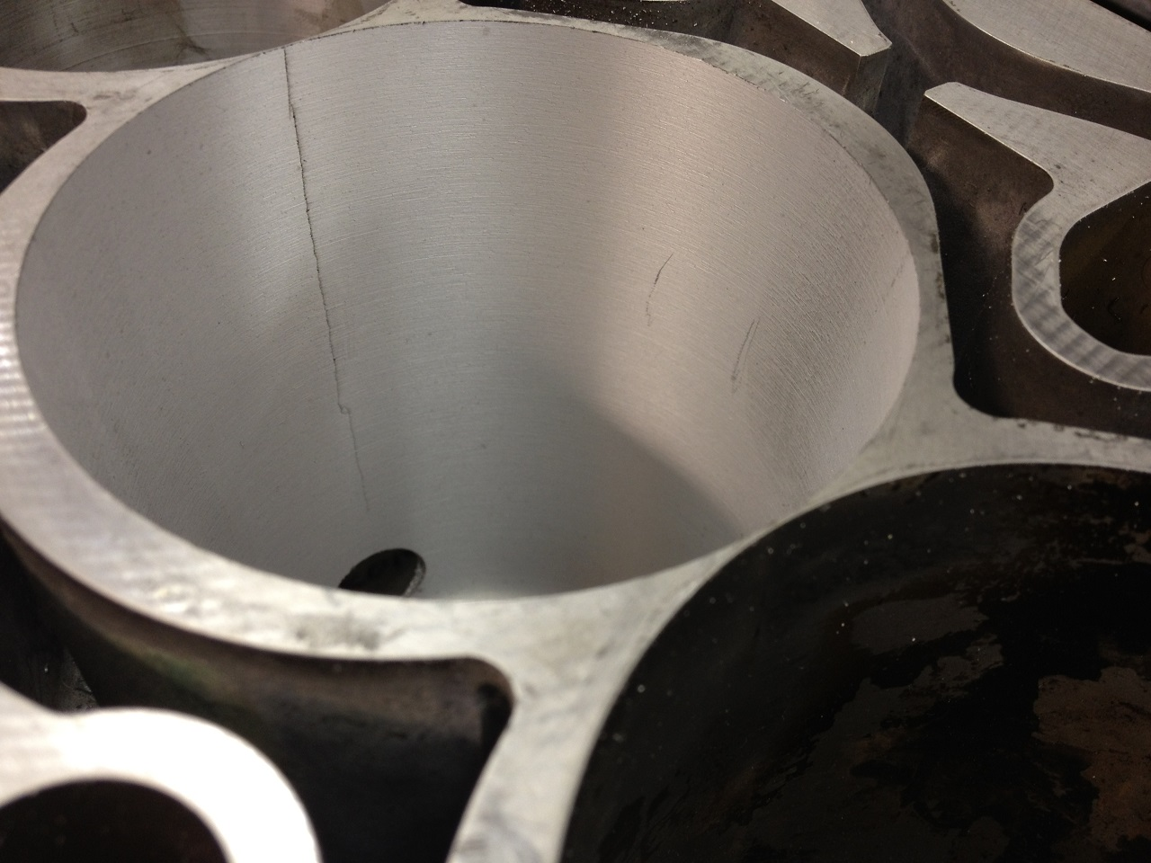 How to fix a cracked block - Cylinder Bore Cracked Behind Original Liner