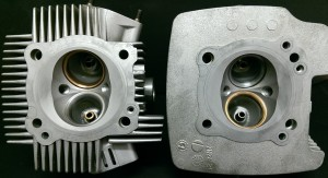 Ducati 1000DS Multi-Strada Cylinder Heads with recut valve seats