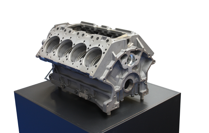 V8 block - engine machining and remanufacturing