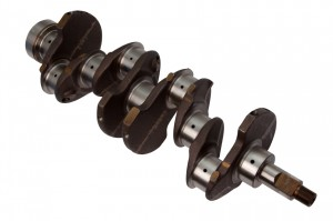 Crankshaft from a 4 cylinder engine - high accuracy machining is essetial