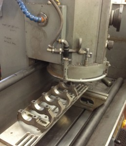 Mitsubishi Evo Block - Main Bearing Ladder Machining on a Berco STC361